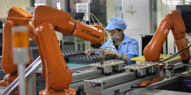 Robots at a Foxconn factory