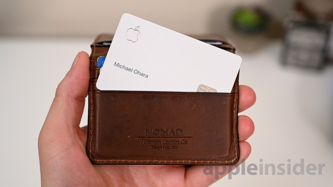 Apple advises against storing Apple Card in leather wallets