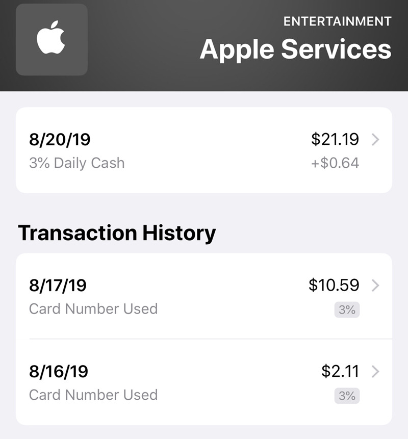 Gaining cash back from App Store purchases
