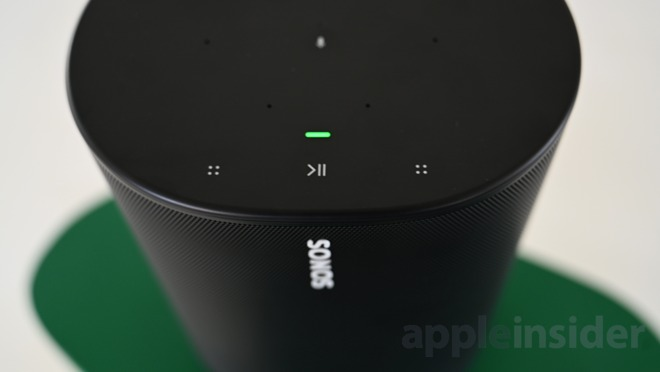 Controls are familar on top of Sonos Move