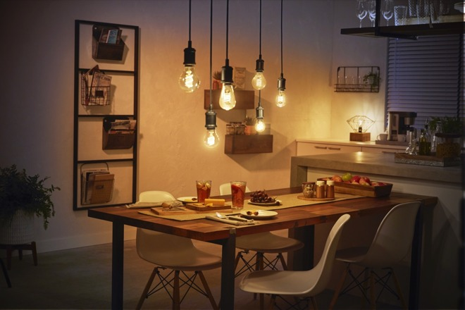 The range of Philips Hue filament bulbs