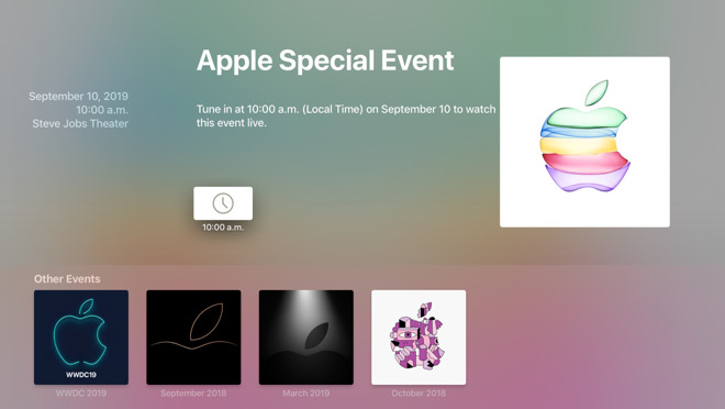 Apple Events app for Apple TV updated for new iPhone launch