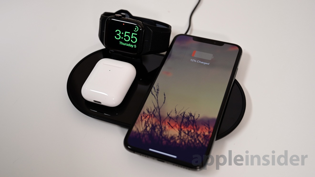 Mophie's three-in-one wireless charging station
