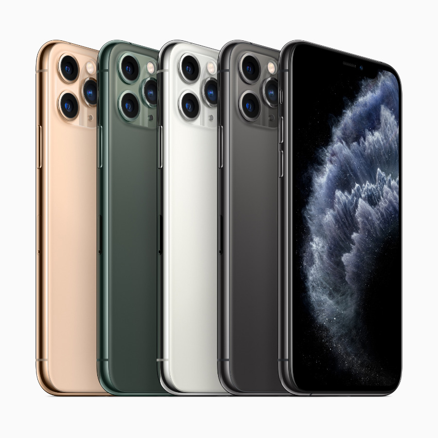 New color finishes for the iPhone 11 Pro and iPhone 11 Pro Max