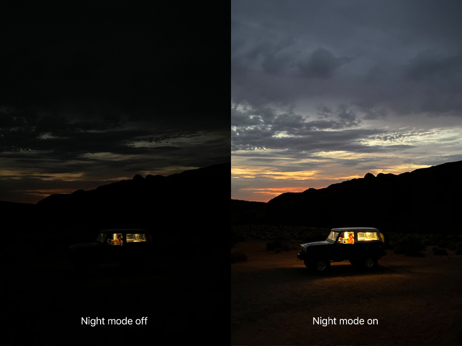 New Night Mode on iPhone 11 Pro and iPhone 11 Pro Max