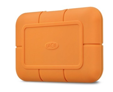 The LaCie Rugged SSD works over USB-C