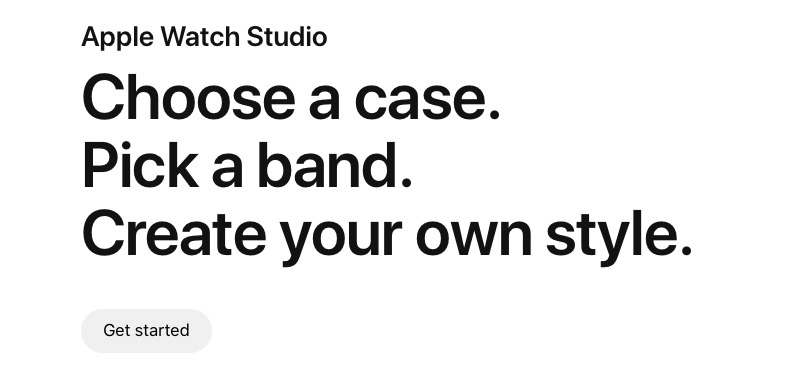 Apple Watch Studio lets you choose your Watch and band online