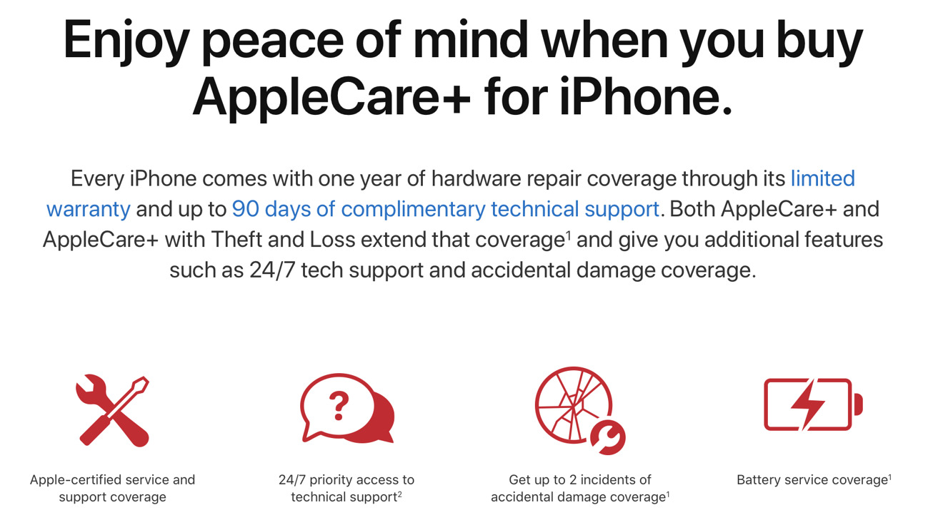 photo of AppleCare+ for iPhone, iPad, and Apple Watch can be extended out to service life of product image