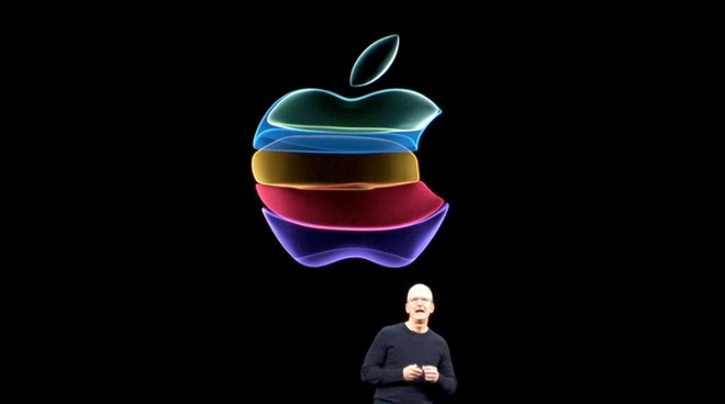 Apple September 2019 event Tim Cook logo