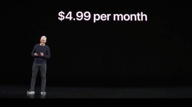 Expect to see more of this. Not just the subscription fee slide, but Tim Cook loving it.