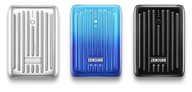 Zendure SuperMini in silver, black, and Blue Horizon
