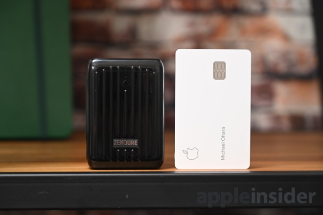 The SuperMini has a smaller footprint than Apple Card