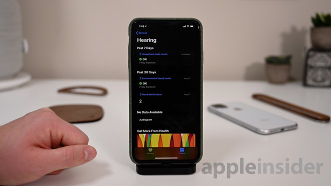 Hearing health metrics in the new iOS 13 Health app