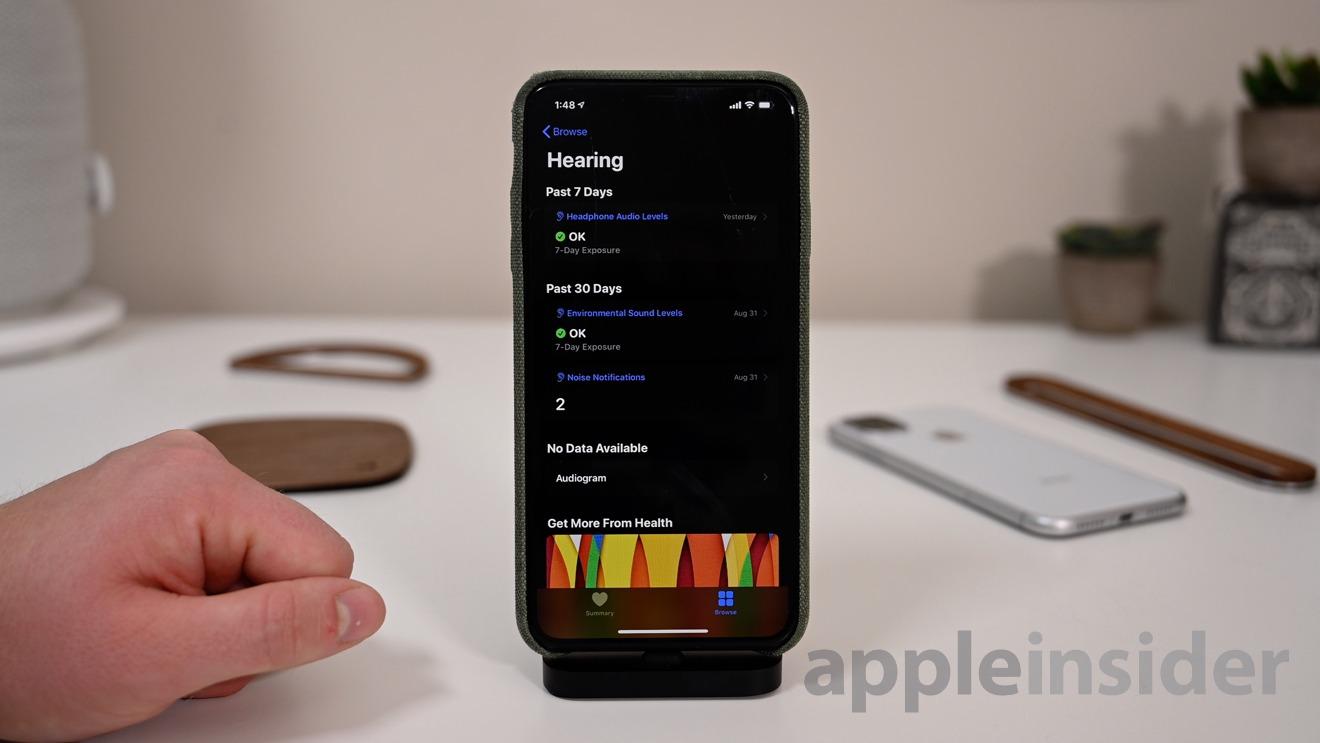 Hearing health metrics in the new iOS 13 Health app
