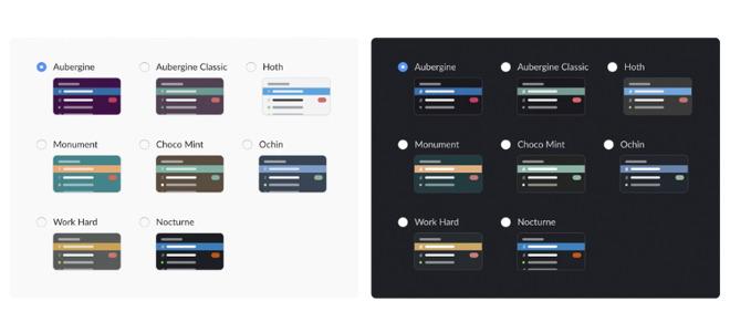 Slack's light mode vs. Slack's dark mode