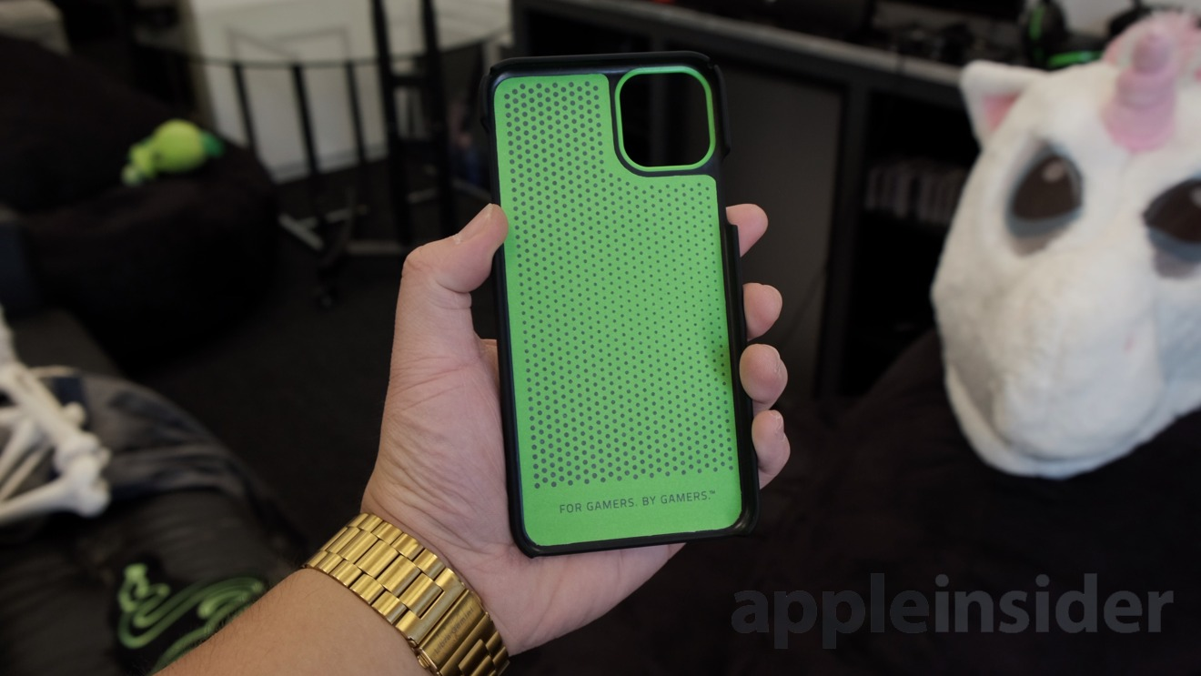 Inside the Razer Arctech case for the iPhone 11 Pro Max