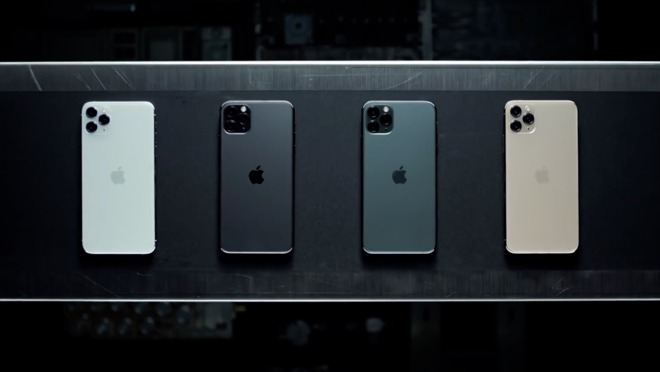The four hues of the iPhone 11 Pro