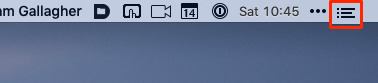 You can click on this icon to call up Notification Center, though a trackpad swipe or a keyboard shortcut is faster