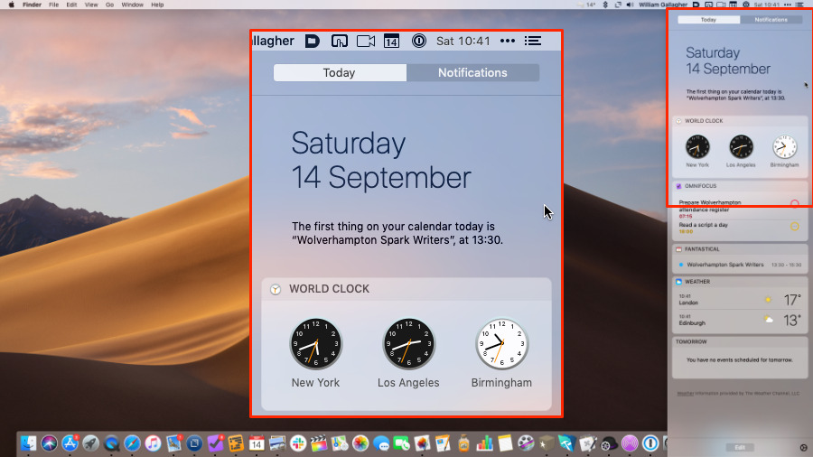 The Today view in Notification Center scrolls, but you'll find it handiest to keep your most-used widgets at the top
