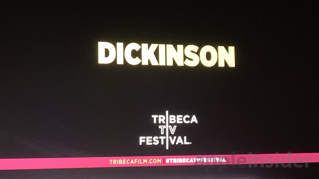 The screen at the Dickinson premiere