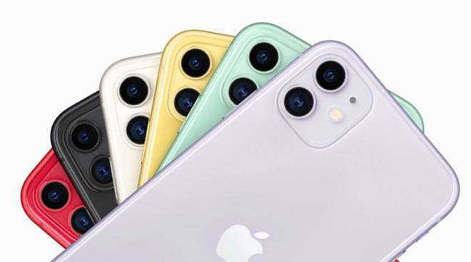 The iPhone 11's range of colors
