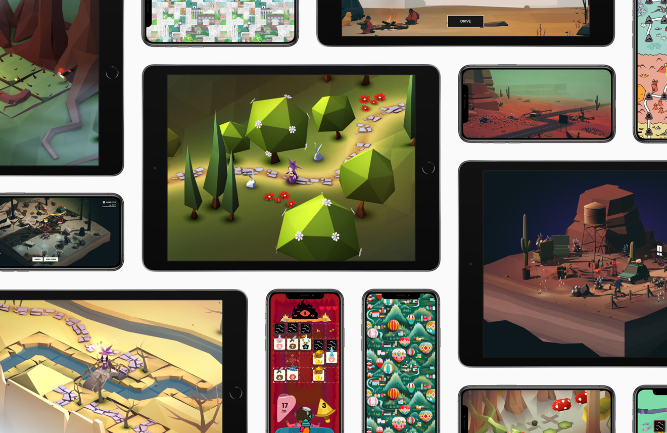 Apple features four games coming to Apple Arcade that some iOS 13 testers can play now