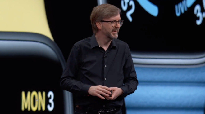 Kevin Lynch began his unveiling of watchOS 6 by concentrating on Watch faces