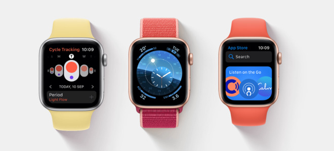 Left: a practical Watch face. Middle: both practical and artistic. Right: the new App Store where faces could surely be sold