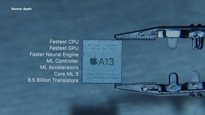 The fast A13 Bionic processor