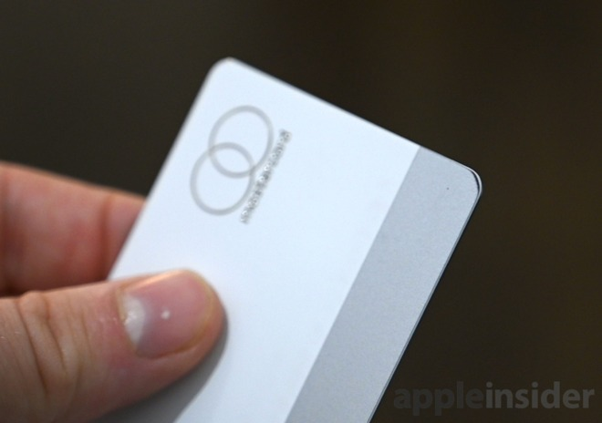 The mag stripe of Apple Card wearing around the corners