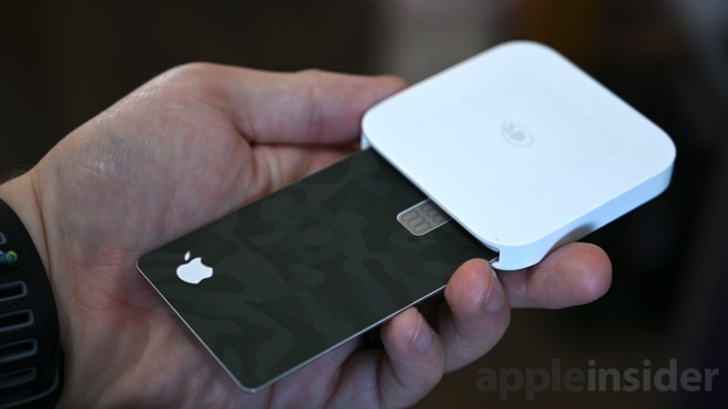 Apple Card is slightly too thick for some readers with both the front and back skins applied