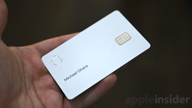 A small ding shows the titanium on the front of Apple Card
