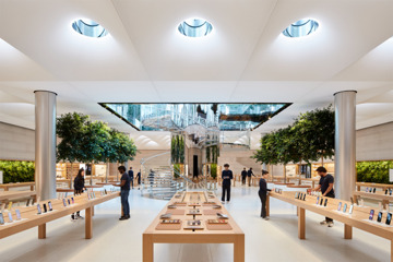 Inside the new Apple Fifth Avenue. (Source: Apple)