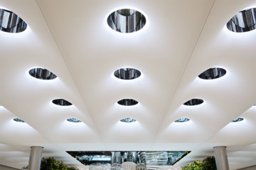 Skylights and Skylenses in the new Apple Fifth Avenue. (Source: Apple)