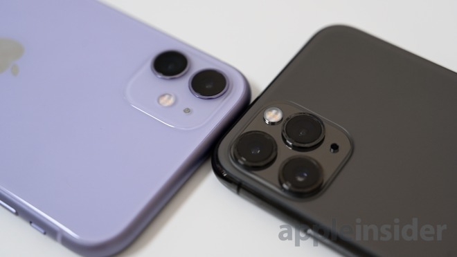 Camera comparison iPhone 11 versus iPhone 11 Pro