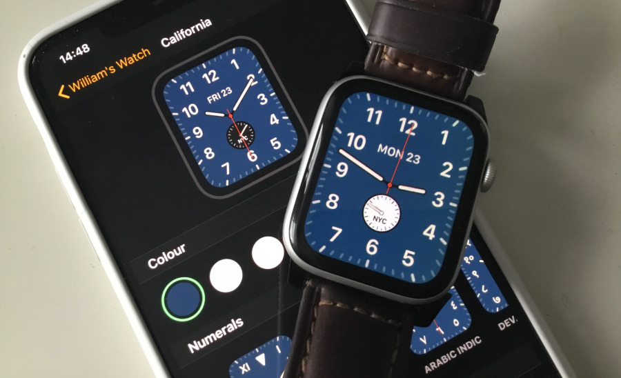 Make a change to this face on your Watch and you will see it reflected in the iOS app immediately.