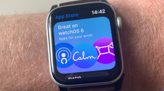 Just as with the iOS version, the App Store on Apple Watch opens with a curated Today selection