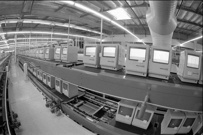 Apple factory in Milpitas, Calif., circa 1984