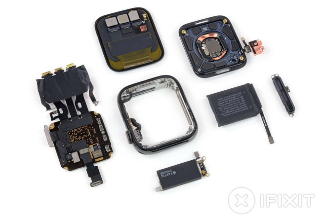 Apple Watch Series 5 components - photo courtesy iFixit