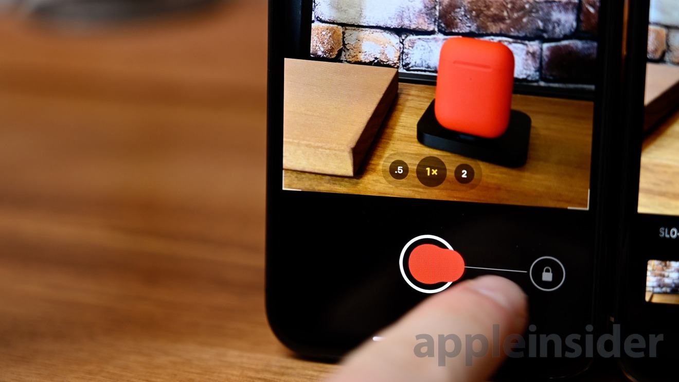 Swipe right to capture a video with QuickTake