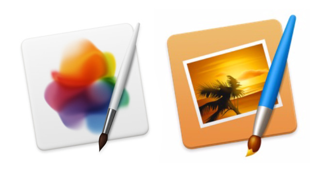 Left: Pixelmator Pro for Mac. Right: the original Pixelmator