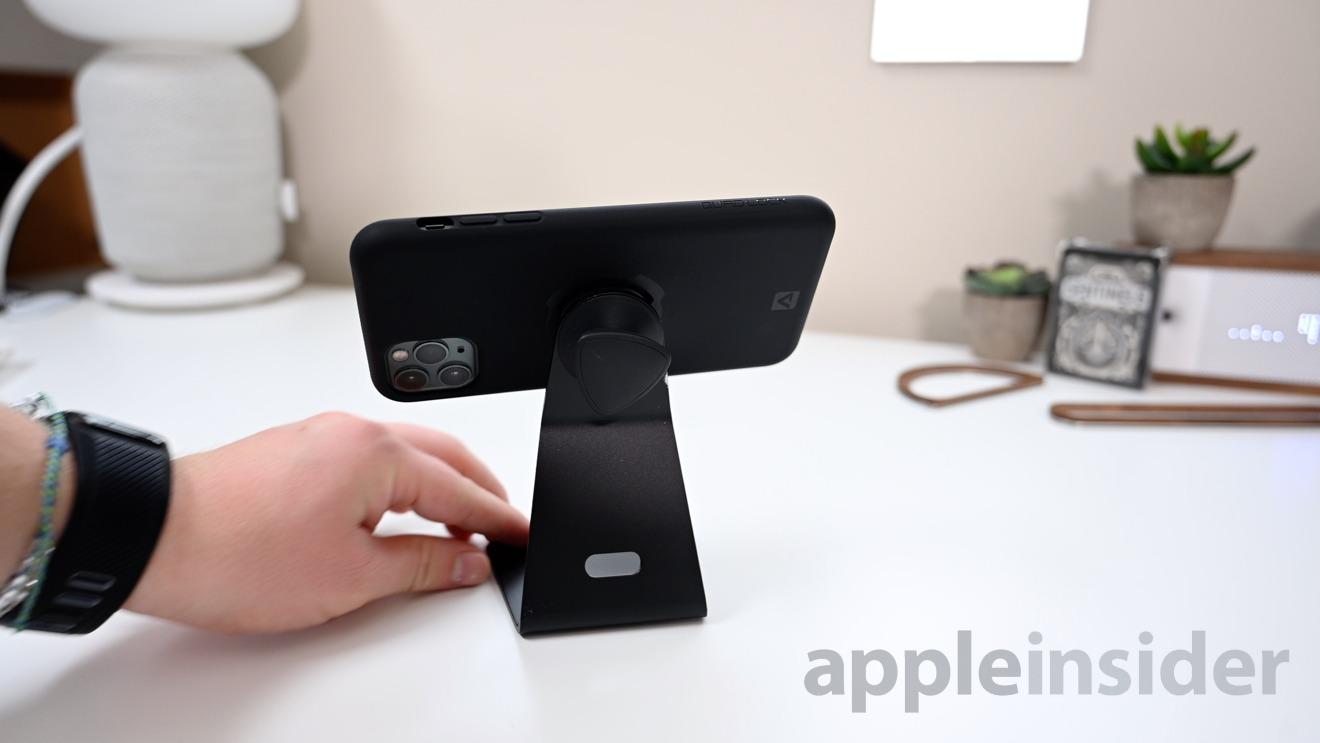 QuadLock case on desk stand
