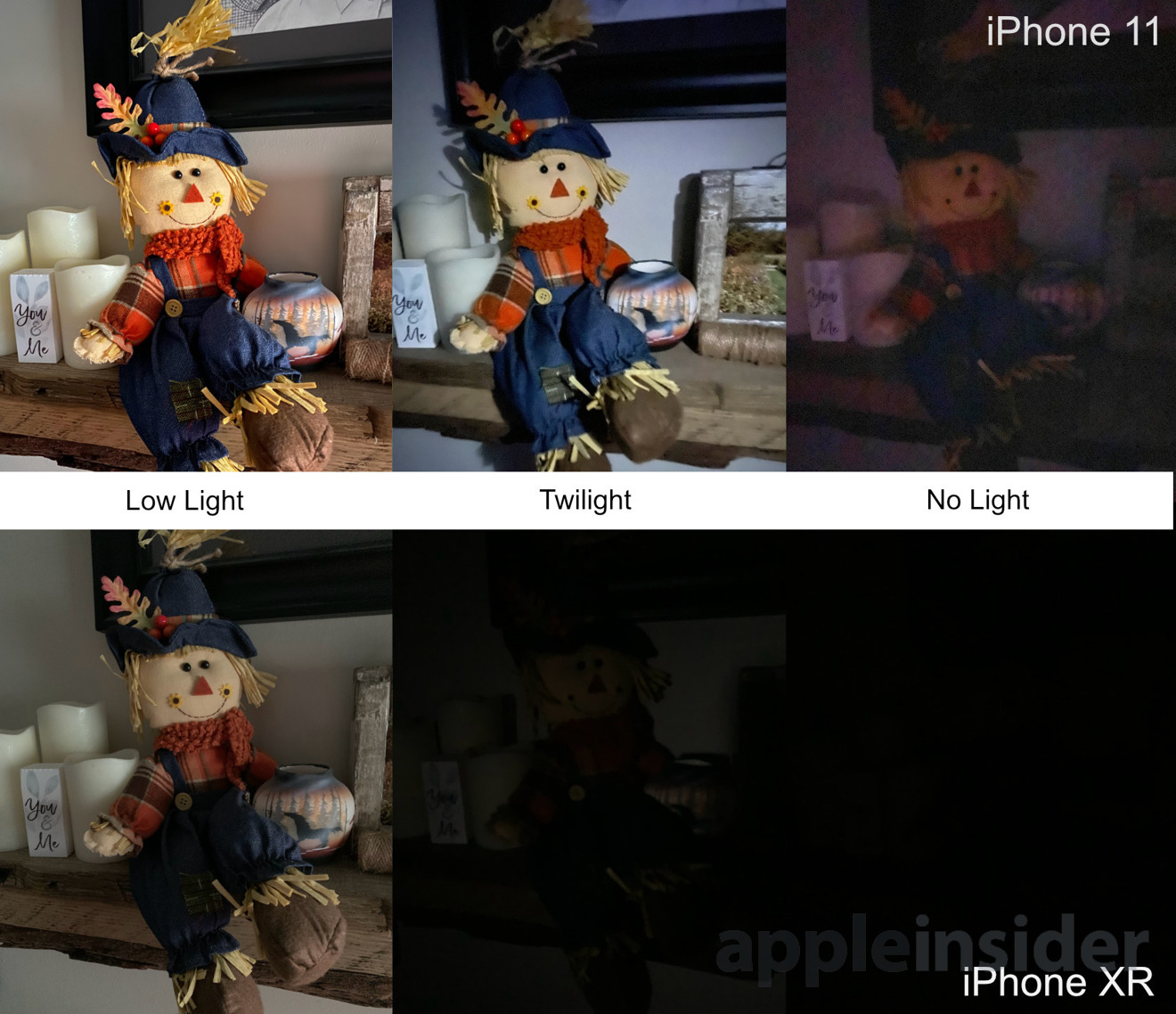 Night mode low-light photography test