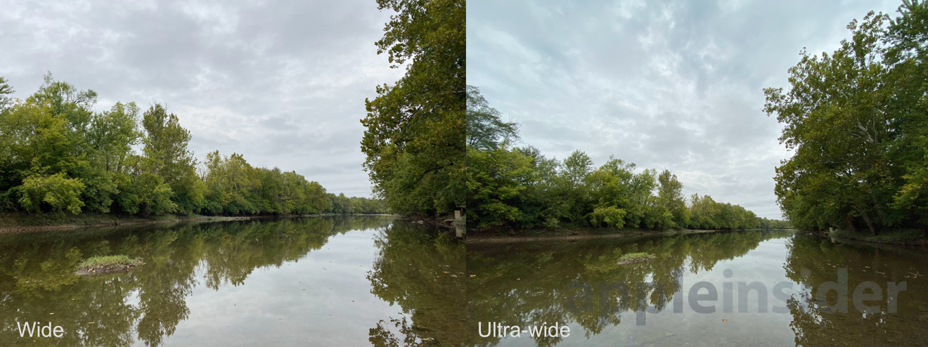 Wide versus ultra-wide lenses on iPhone 11