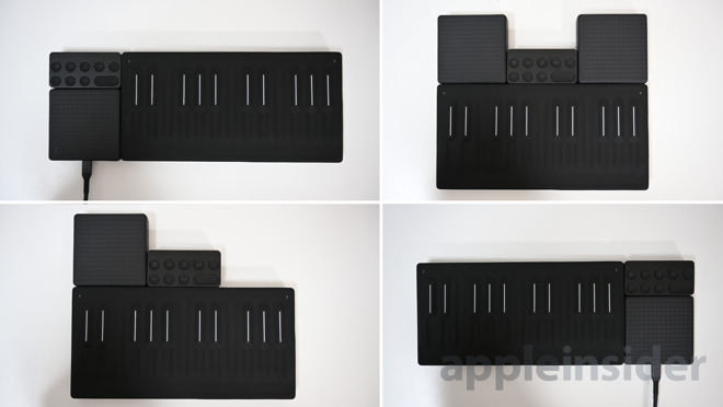 Different configurations of Roli Blocks