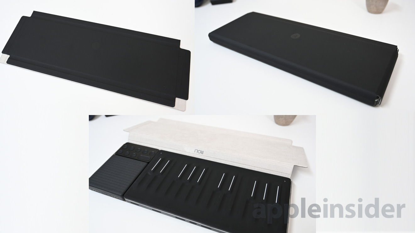 The Songmaker Kit case is magnetic and lays flat