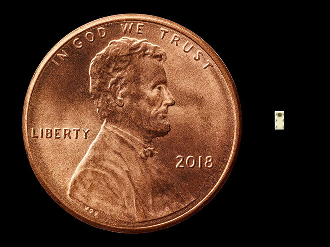 Bloomberg's scale example for the size of the alleged spy chip. That isn't the spy chip.