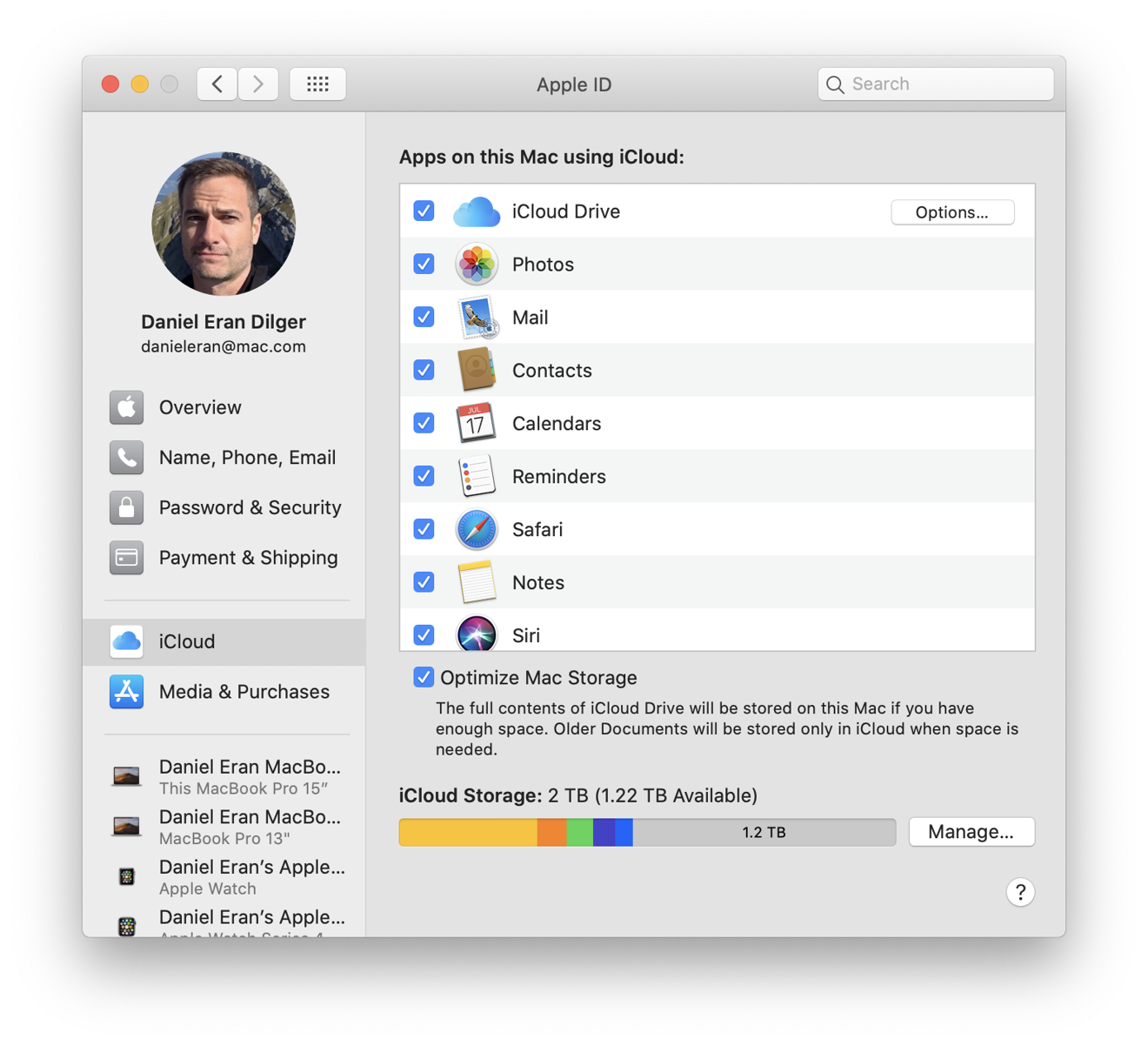 Apple ID in System Preferences