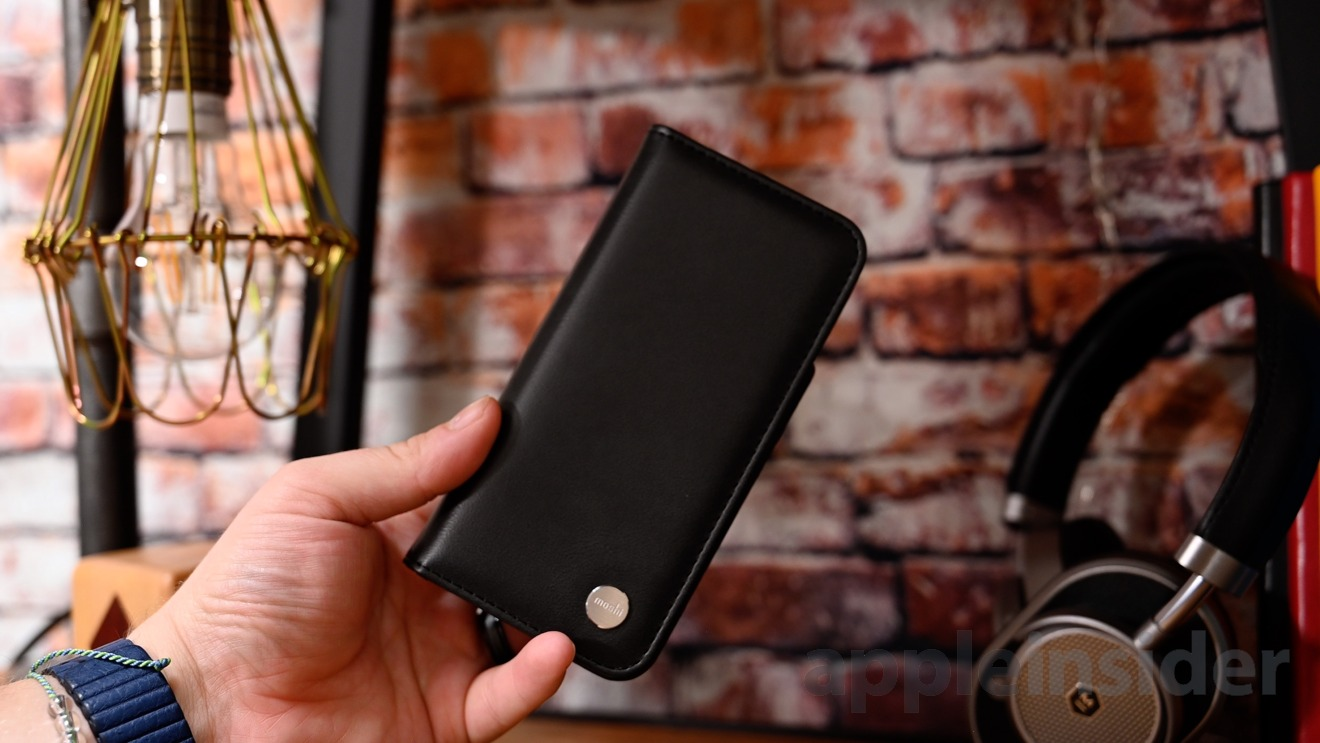 Moshi Overture removable leather wallet case for iPhone 11 Pro