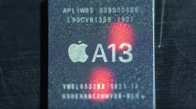 The A13 Bionic, Apple's latest A-series chip used in the iPhone 11, iPhone 11 Pro, and iPhone 11 Pro Max